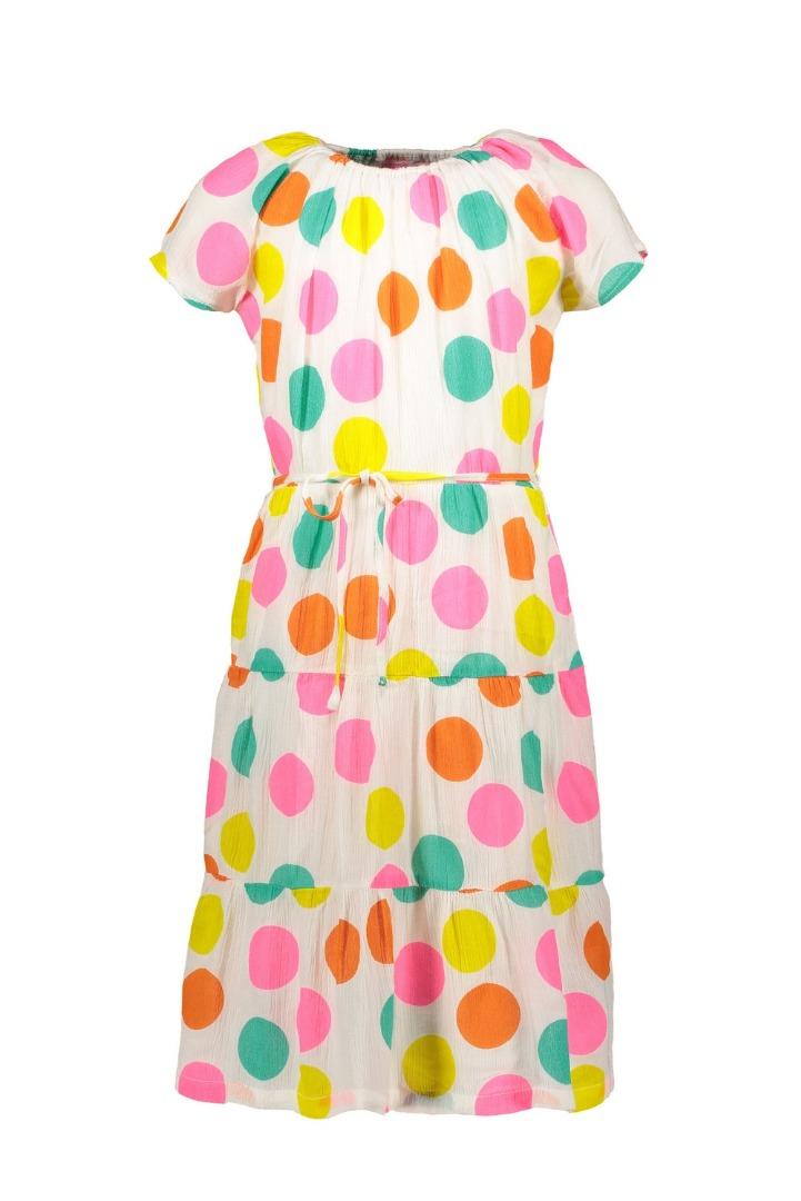 Spiksplinternieuw KIDZ-ART meisjes gypsy maxi jurk dots allover print K003-5854 945 CR-73